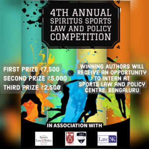 4th Annual Spiritus Sports Law and Policy Competition