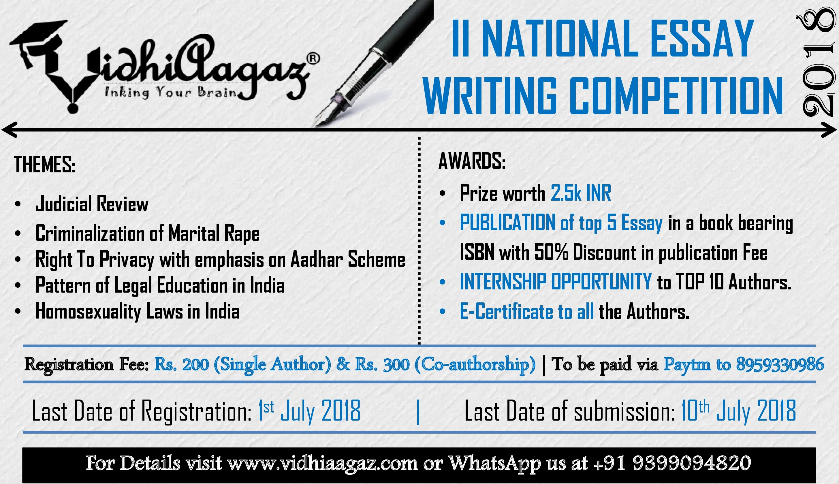 rgnul essay writing competition