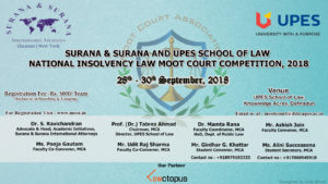 Poster Surana & Surana AND UPES NAtional Insolvency Moot