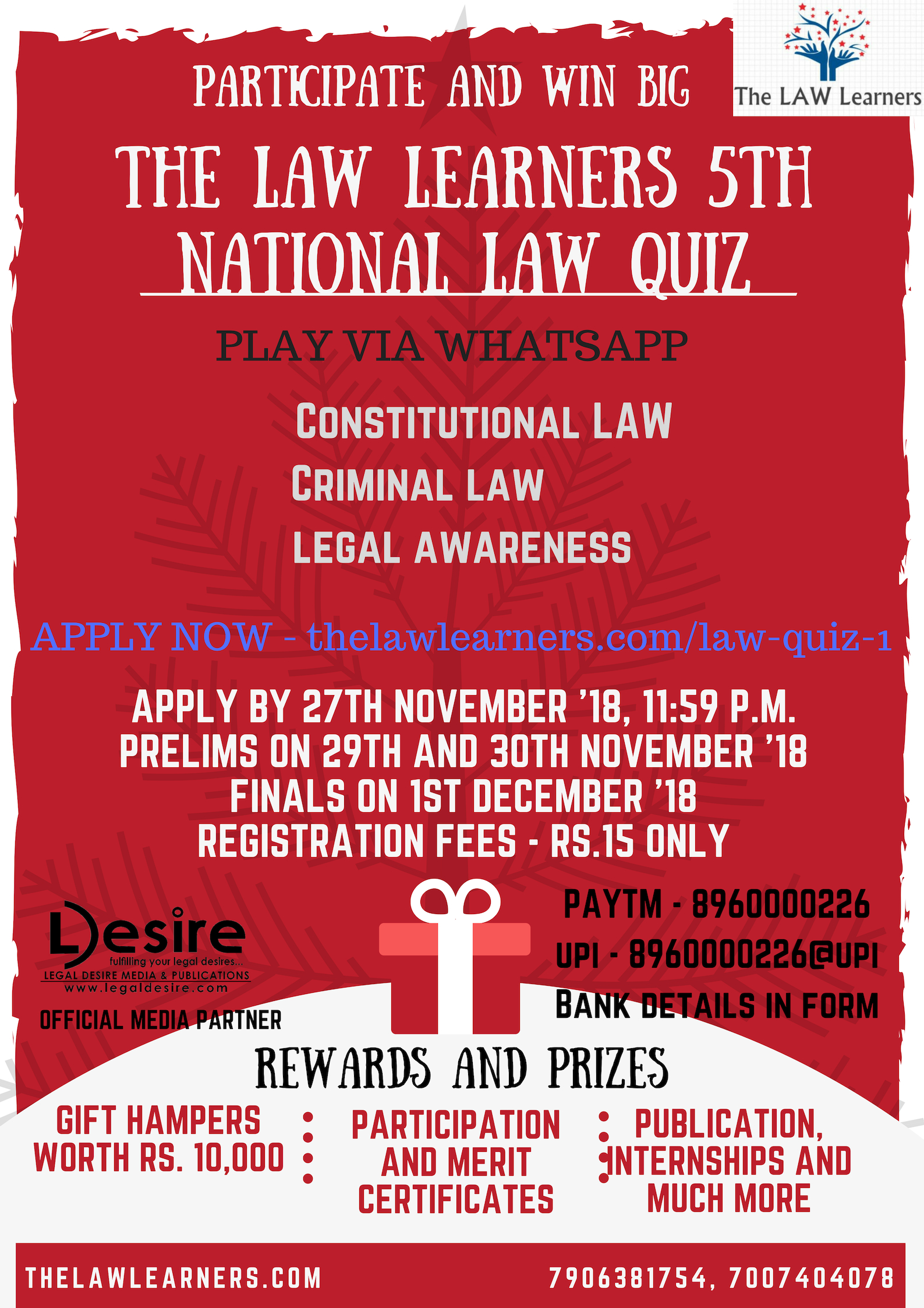 National LAW Quiz Poster